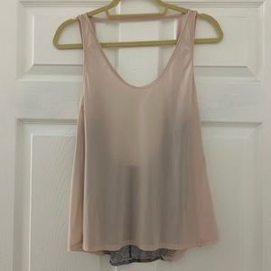 Lululemon tank top with low/mesh back